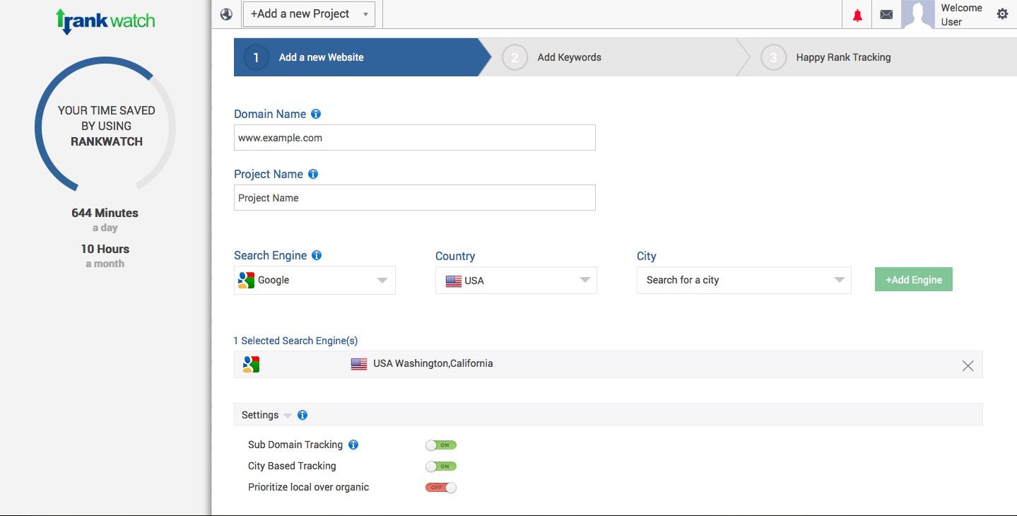 City Based Rank Tracking